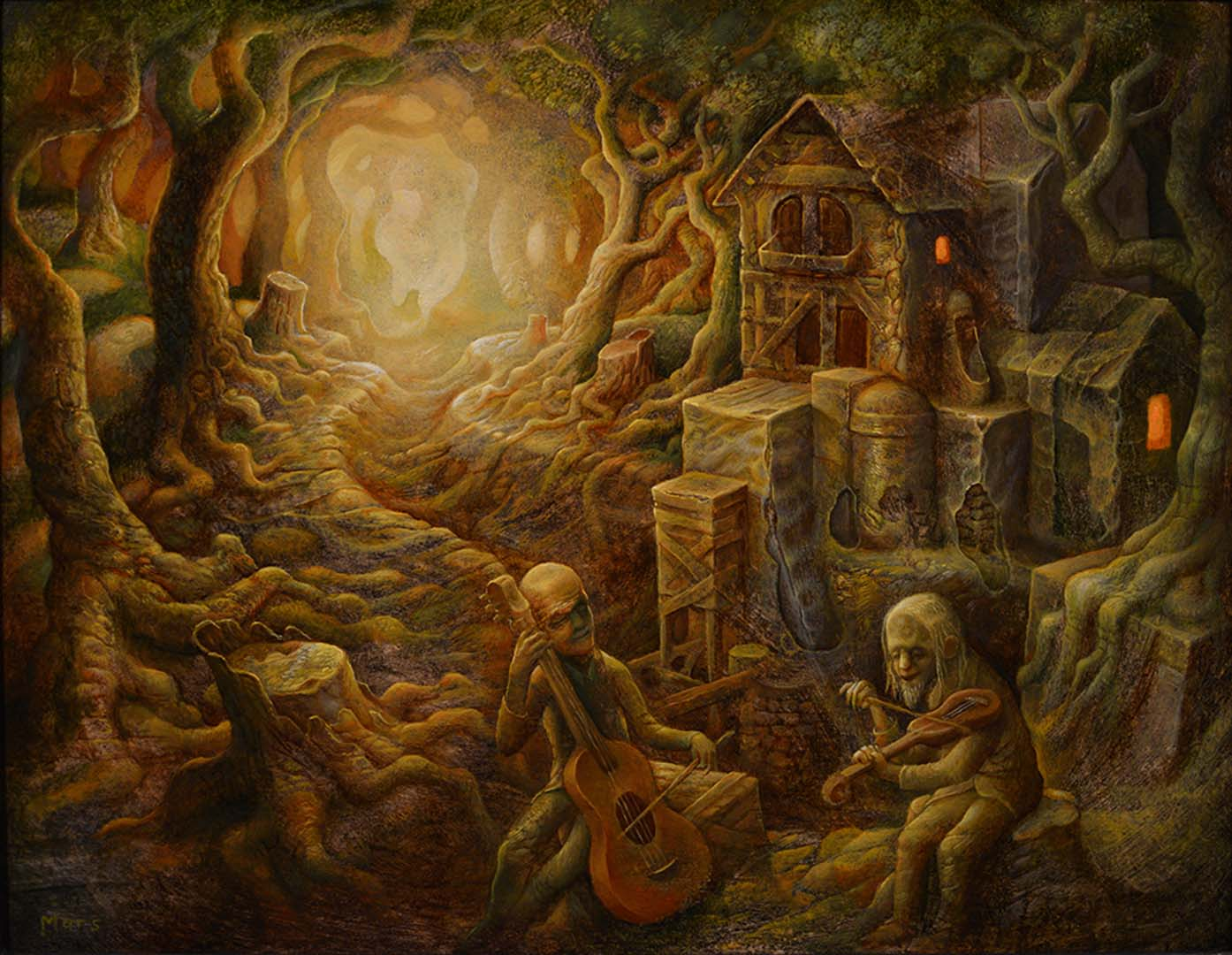 Into the woods haven gallery - The hideout in the woods an artists dream ...